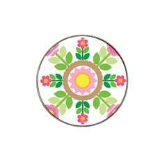 Flower Floral Sunflower Sakura Star Leaf Hat Clip Ball Marker (4 pack)