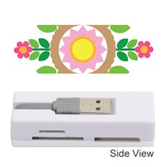Flower Floral Sunflower Sakura Star Leaf Memory Card Reader (Stick)