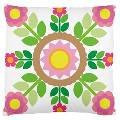Flower Floral Sunflower Sakura Star Leaf Large Cushion Case (Two Sides)