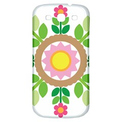 Flower Floral Sunflower Sakura Star Leaf Samsung Galaxy S3 S III Classic Hardshell Back Case