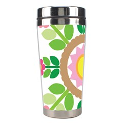 Flower Floral Sunflower Sakura Star Leaf Stainless Steel Travel Tumblers