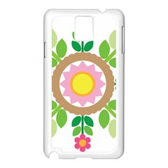 Flower Floral Sunflower Sakura Star Leaf Samsung Galaxy Note 3 N9005 Case (White)