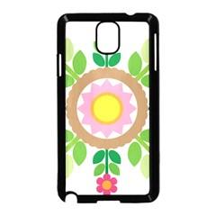Flower Floral Sunflower Sakura Star Leaf Samsung Galaxy Note 3 Neo Hardshell Case (Black)