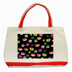 Japanese Food Sushi Fish Classic Tote Bag (Red)
