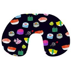 Japanese Food Sushi Fish Travel Neck Pillows