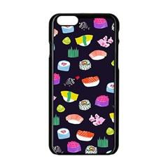 Japanese Food Sushi Fish Apple iPhone 6/6S Black Enamel Case