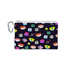 Japanese Food Sushi Fish Canvas Cosmetic Bag (S)
