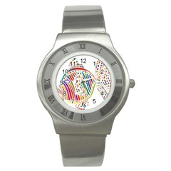 Colorful Fish Animals Rainbow Stainless Steel Watch