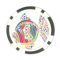 Colorful Fish Animals Rainbow Poker Chip Card Guard (10 pack)