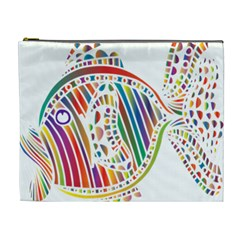 Colorful Fish Animals Rainbow Cosmetic Bag (XL)