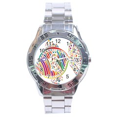 Colorful Fish Animals Rainbow Stainless Steel Analogue Watch