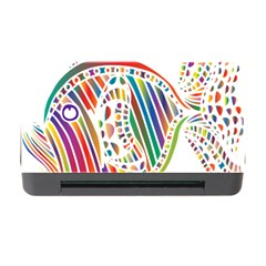 Colorful Fish Animals Rainbow Memory Card Reader with CF