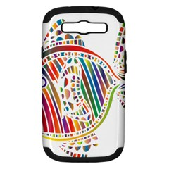 Colorful Fish Animals Rainbow Samsung Galaxy S III Hardshell Case (PC+Silicone)