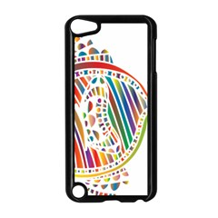 Colorful Fish Animals Rainbow Apple iPod Touch 5 Case (Black)