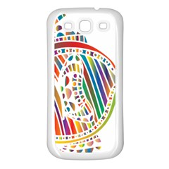 Colorful Fish Animals Rainbow Samsung Galaxy S3 Back Case (White)