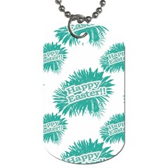 Happy Easter Theme Graphic Dog Tag (One Side)