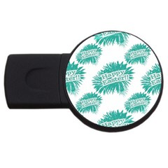 Happy Easter Theme Graphic USB Flash Drive Round (2 GB)