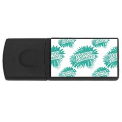 Happy Easter Theme Graphic USB Flash Drive Rectangular (1 GB)