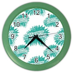 Happy Easter Theme Graphic Color Wall Clocks