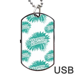 Happy Easter Theme Graphic Dog Tag USB Flash (Two Sides)
