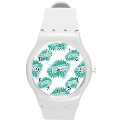 Happy Easter Theme Graphic Round Plastic Sport Watch (M)