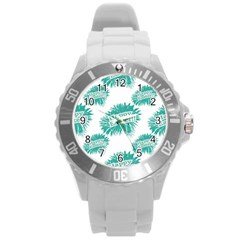 Happy Easter Theme Graphic Round Plastic Sport Watch (L)