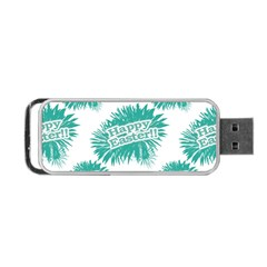 Happy Easter Theme Graphic Portable USB Flash (One Side)