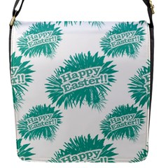 Happy Easter Theme Graphic Flap Messenger Bag (S)