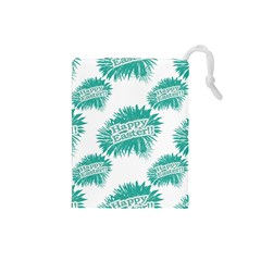 Happy Easter Theme Graphic Drawstring Pouches (Small)