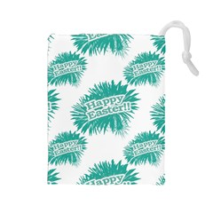 Happy Easter Theme Graphic Drawstring Pouches (Large)