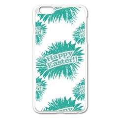 Happy Easter Theme Graphic Apple iPhone 6 Plus/6S Plus Enamel White Case