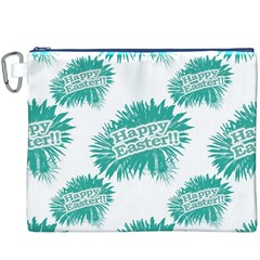 Happy Easter Theme Graphic Canvas Cosmetic Bag (XXXL)