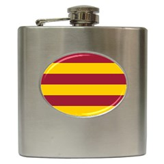 Oswald s Stripes Red Yellow Hip Flask (6 oz)
