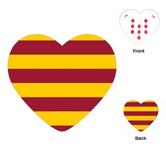 Oswald s Stripes Red Yellow Playing Cards (Heart)