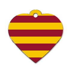 Oswald s Stripes Red Yellow Dog Tag Heart (One Side)