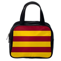 Oswald s Stripes Red Yellow Classic Handbags (One Side)