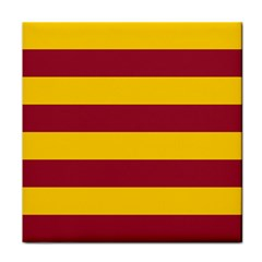 Oswald s Stripes Red Yellow Face Towel