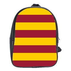 Oswald s Stripes Red Yellow School Bags(Large)