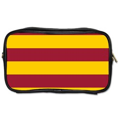 Oswald s Stripes Red Yellow Toiletries Bags 2-Side