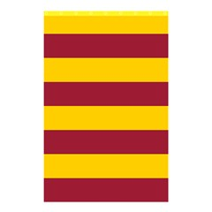 Oswald s Stripes Red Yellow Shower Curtain 48  x 72  (Small)