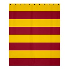 Oswald s Stripes Red Yellow Shower Curtain 60  x 72  (Medium)