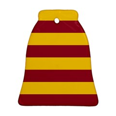 Oswald s Stripes Red Yellow Bell Ornament (Two Sides)