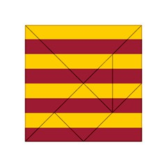 Oswald s Stripes Red Yellow Acrylic Tangram Puzzle (4  x 4 )