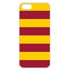Oswald s Stripes Red Yellow Apple iPhone 5 Seamless Case (White)