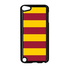 Oswald s Stripes Red Yellow Apple iPod Touch 5 Case (Black)