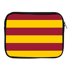 Oswald s Stripes Red Yellow Apple iPad 2/3/4 Zipper Cases