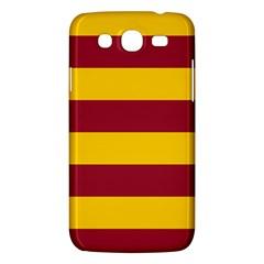 Oswald s Stripes Red Yellow Samsung Galaxy Mega 5.8 I9152 Hardshell Case