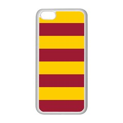 Oswald s Stripes Red Yellow Apple iPhone 5C Seamless Case (White)