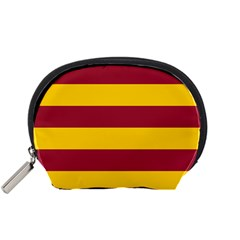 Oswald s Stripes Red Yellow Accessory Pouches (Small)
