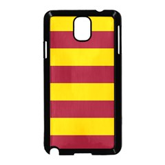 Oswald s Stripes Red Yellow Samsung Galaxy Note 3 Neo Hardshell Case (Black)
